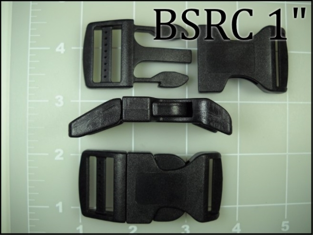 BSRC 1   (1 inch acetal curved side release buckle) plastic ACW