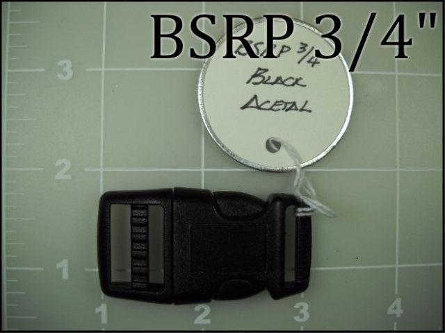 BSRP 34  (3/4 inch curved side release black acetal)