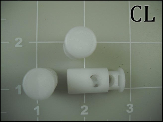 White Acetal Cord Locks Barrel Lock