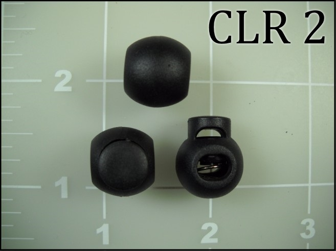 Black Poly Cord Lock Ball