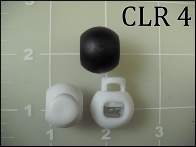 Black white ball acetal cord lock