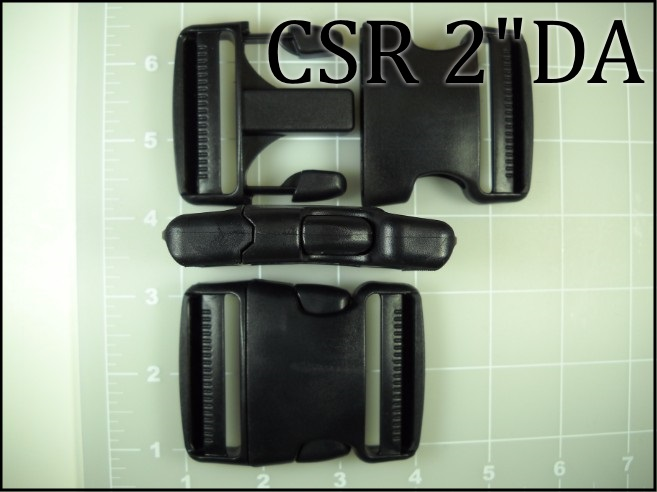 CSR 2DA (2 inch double adjusting acetal side release buckle)