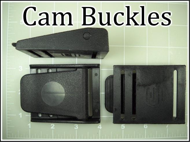 Black nylon plastic cam buckles