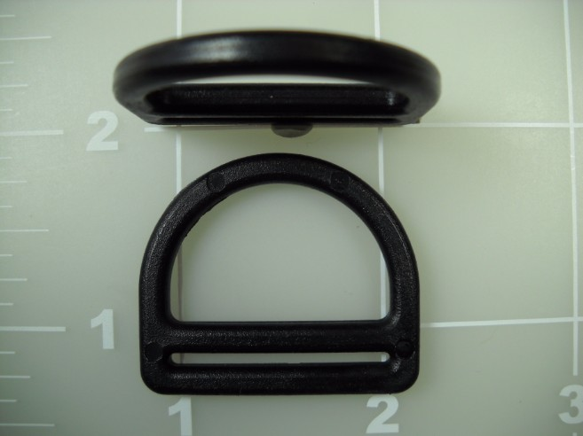 plastic acetal dee ring with slot