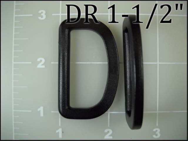 1-1/2 inch black plastic acetal dee ring