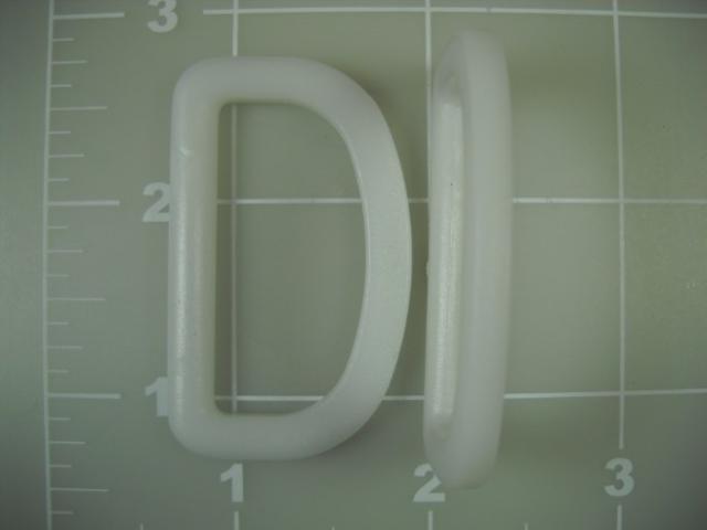 acetal dee ring white plastic
