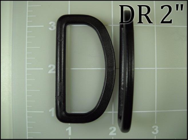 black plastic 2 inch acetal dee ring