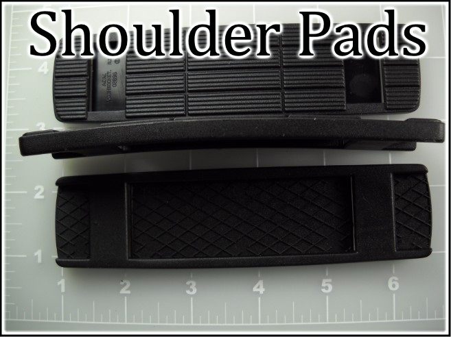 elastomer plastic black shoulder pads