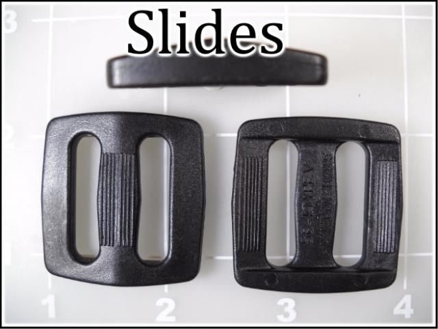 black plastic slides acetal