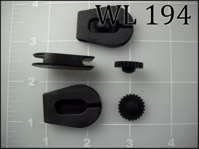 "1/8"" cord wheel lock plastic black"