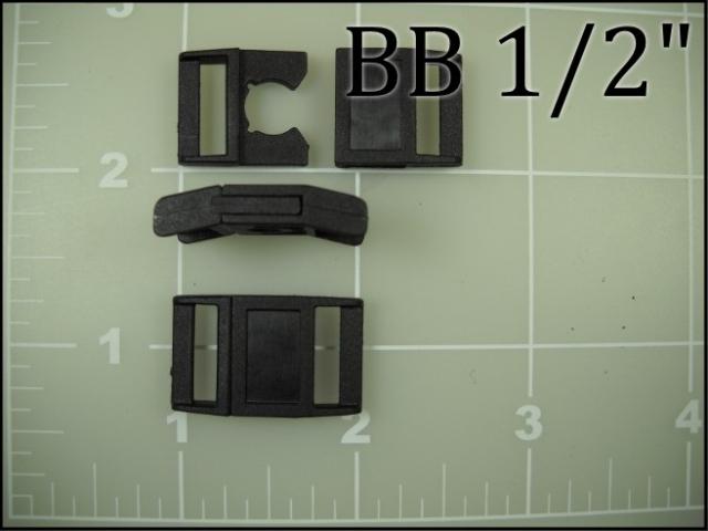 1/2 inch plastic breakaway buckle