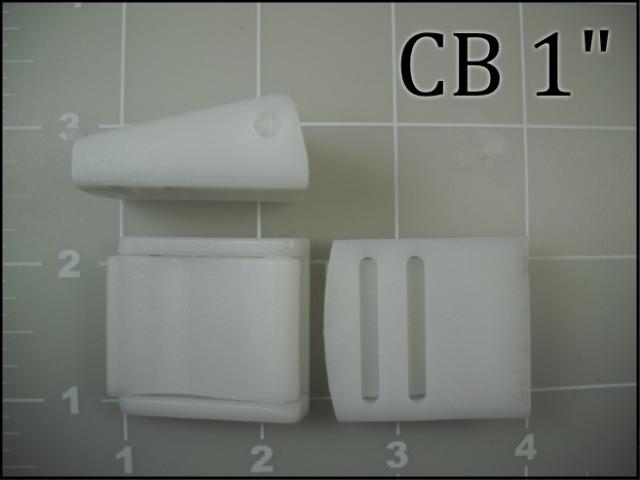 "1"" White Acetal Cam Buckle"
