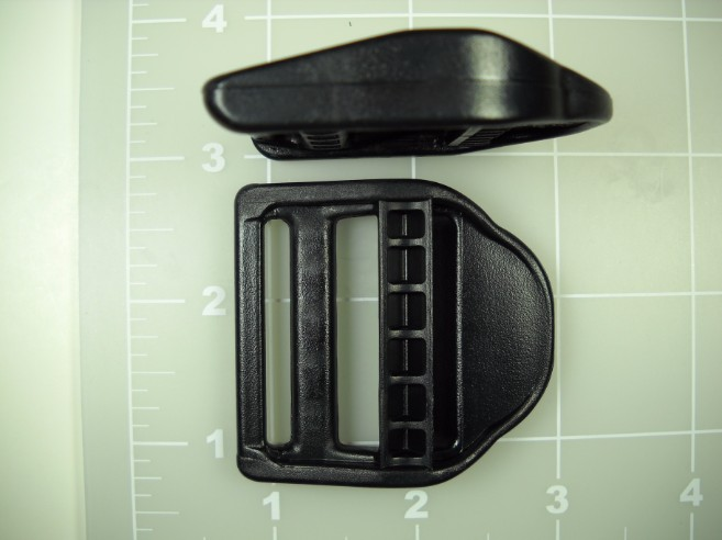 "double bar buckle single locking plastic acetal ladder lock 1-1/2"""