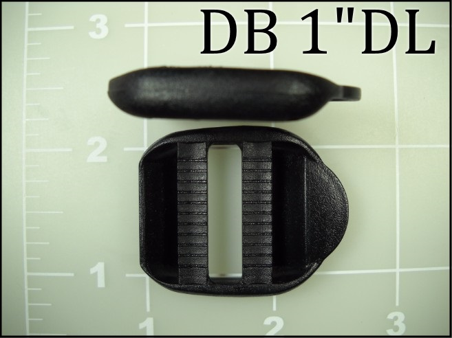 "1"" black plastic double bar double locking ladder lock acetal"