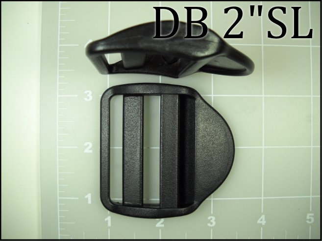 "2"" double bar single lock acetal plastic ladder lock black"