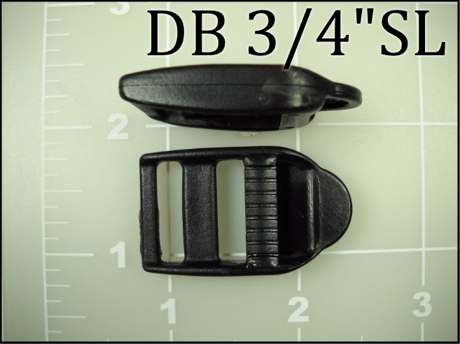 3/4 inch double bar buckle ladder lock plastic tab single locking lock