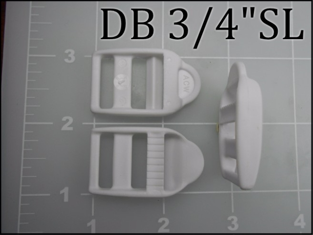 3/4 inch double bar buckle single locking acetal plastic ladder lock