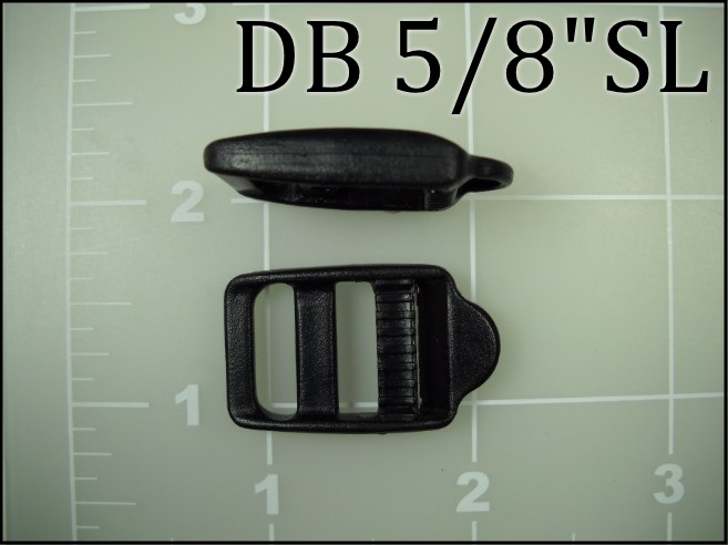 5/8 inch double bar buckle ladder lock plastic tab single locking lock