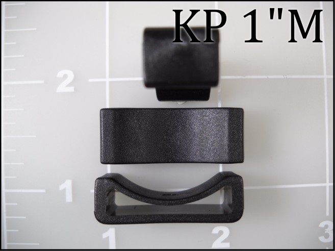 "1"" black plastic keeper acetal KP"