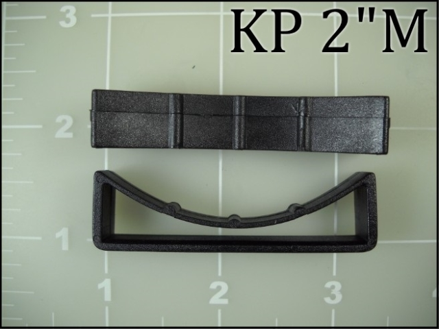 2 inch keeper black plastic keeper