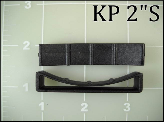2 inch black poly plastic keeper KP