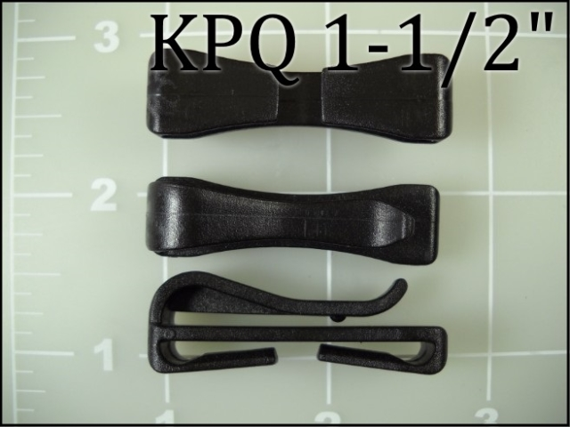easy attach black slip webbing keeper black plastic acetal