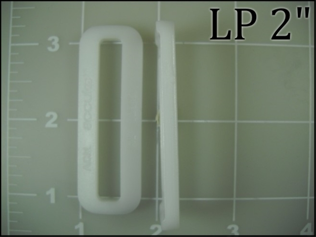 white acetal plastic loop rectangular loop