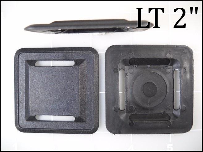"LT 2 1"" webbing black plastic elastomer lash tab"