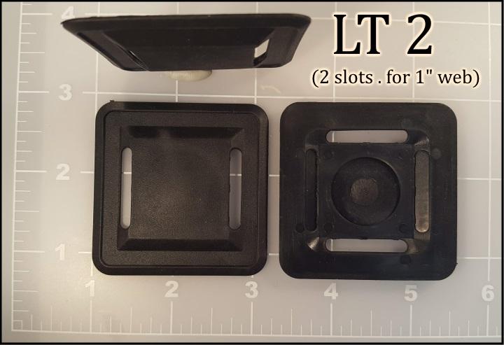 """Lash Tab LT 2 1"""" slot plastic elastomer vinyl lashing black"""