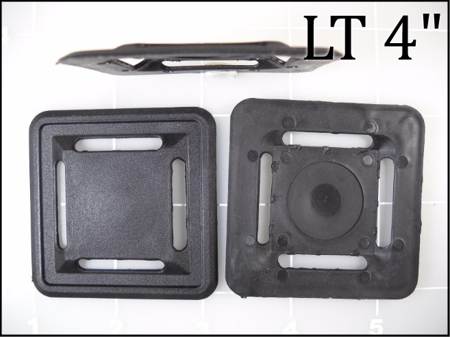 """2 way 4 slot 1"""" lash tab black plastic elastomer"""