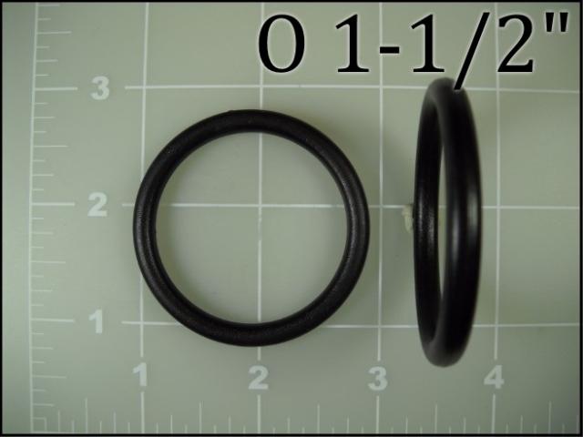 1-1/2 inch round ring o ring nylon plastic