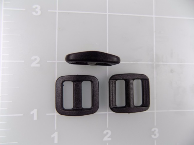 black acetal plastic slide low profile
