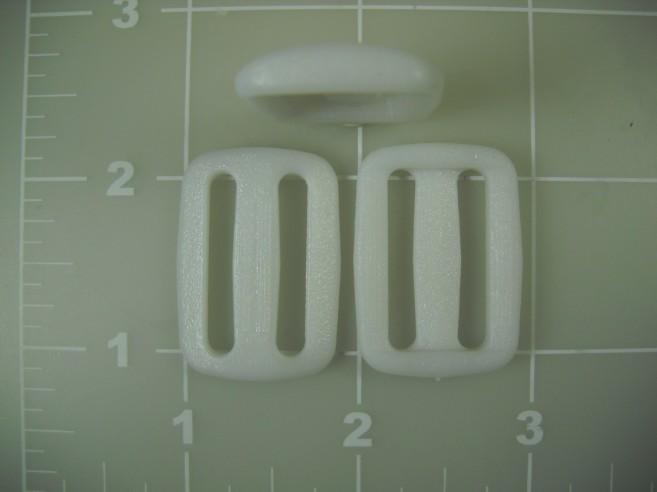 """1"""" white acetal plastic slide slider"""