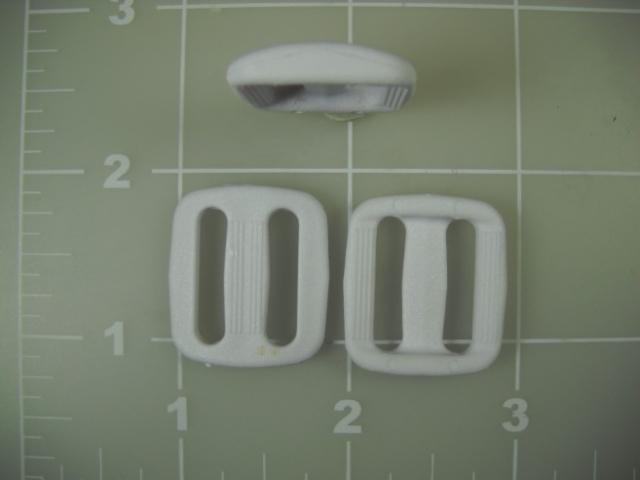 """3/4"""" acetal plastic white slide"""