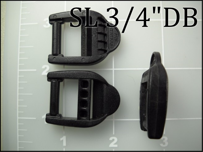 SL 34DB  (3/4 inch acetal double bar snap loop)
