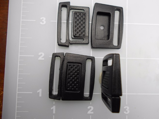 "1"" black acetal watch band buckle"
