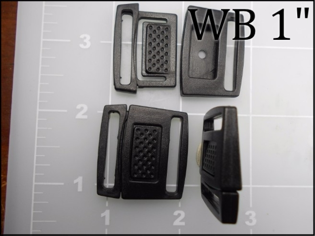 "WB 1"" black acetal watch band buckle"