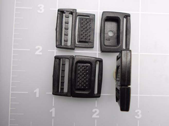 "3/4"" black acetal watch band buckle"