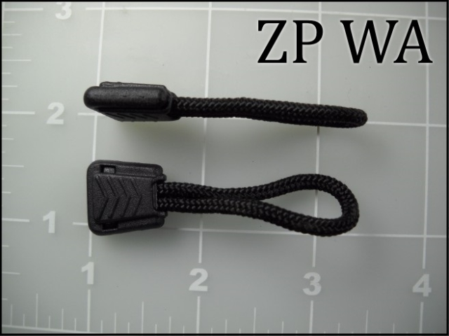 ZP WA  Zipper Pull with 4-1/2 inch cord assembled