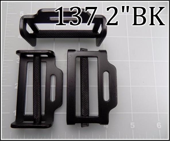 137 2BK - - 2 inch black roller buckle  acw roller buckle black