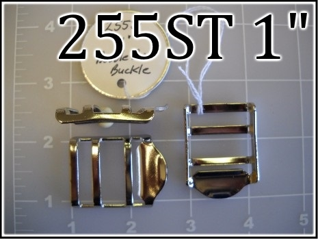 255ST 1  - -  1 inch nickel plated steel double bar buckle ladder lock
