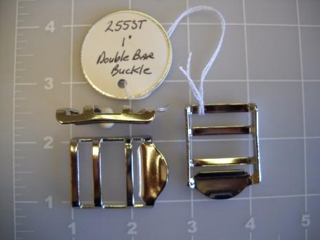 ladder lock double bar buckle metal steel 1 inch