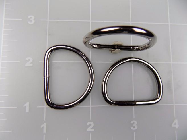 1 inch nickel plated steel dee ring metal