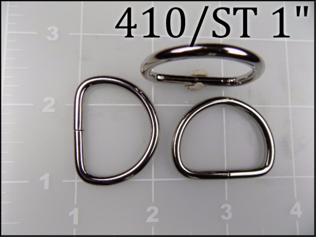 410ST 1  - - 1 inch nickel plated steel dee ring metal