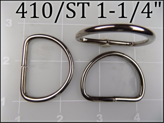 410ST 114  - - 1-1/4 inch nickel plated steel dee ring metal