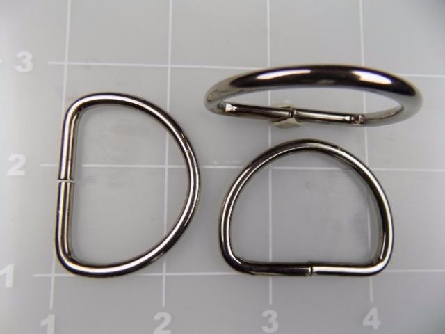 1-1/4 inch nickel plated steel dee ring metal