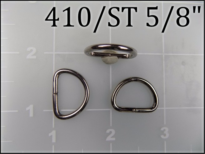 410ST 58  - -  5/8 inch nickel plated steel dee ring  metal