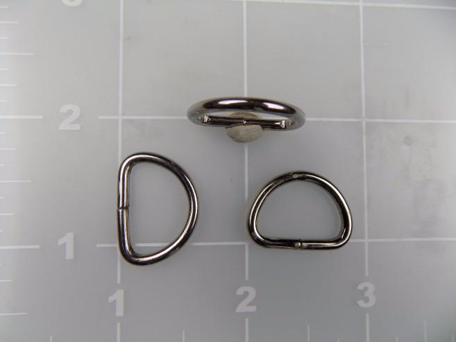 5/8 inch nickel plated steel dee ring metal