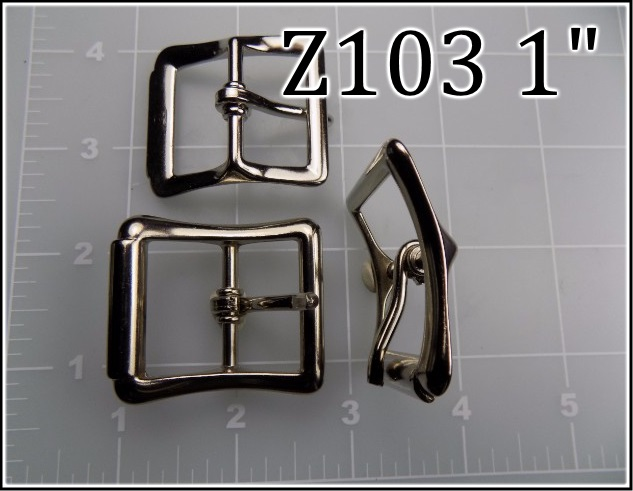 Z103 1  - -  1 inch zinc cast roller buckle metal belt buckle CMC