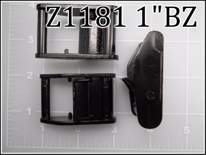 """Z1181 1BZ  - - 1"""" black zinc cam buckle"""